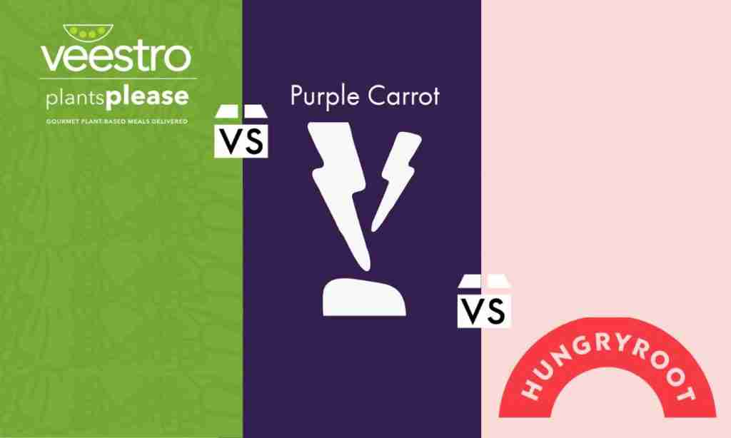 Veestro vs. Purple Carrot vs. Hungryroot - Featured Image