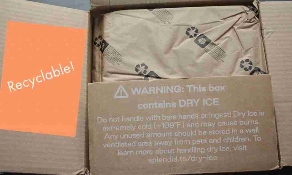 100% recyclable materials from box