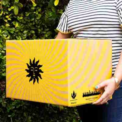 sun basket logo and meal box delivery