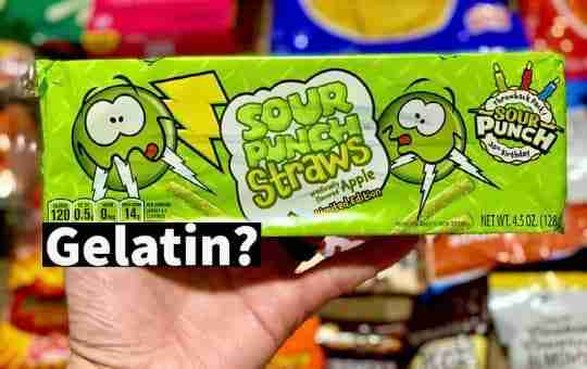 sour punch straws and gelatin