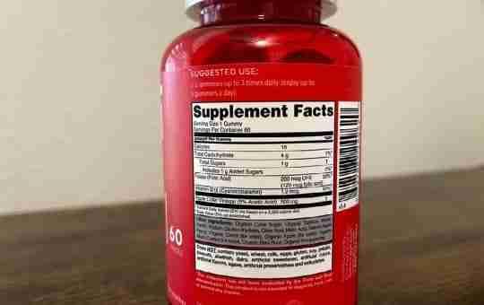goli apple cider vinegar supplement facts