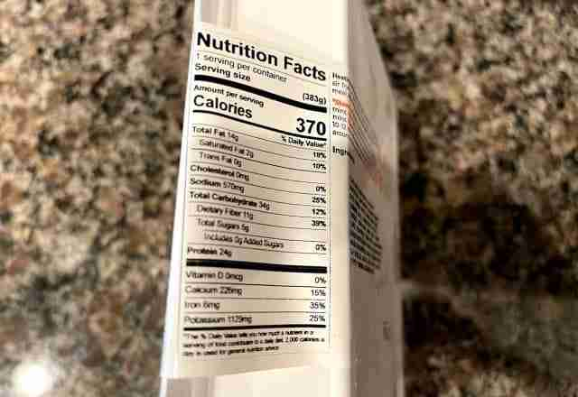 vegan meal nutrition facts from trifecta