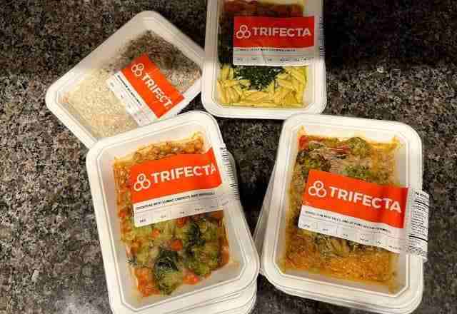 trifecta pre-packaged vegan meals out of box