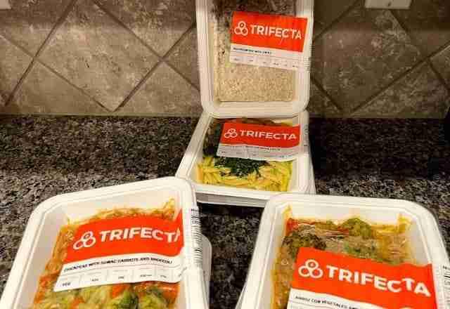 trifecta vegan meals on kitchen counter good